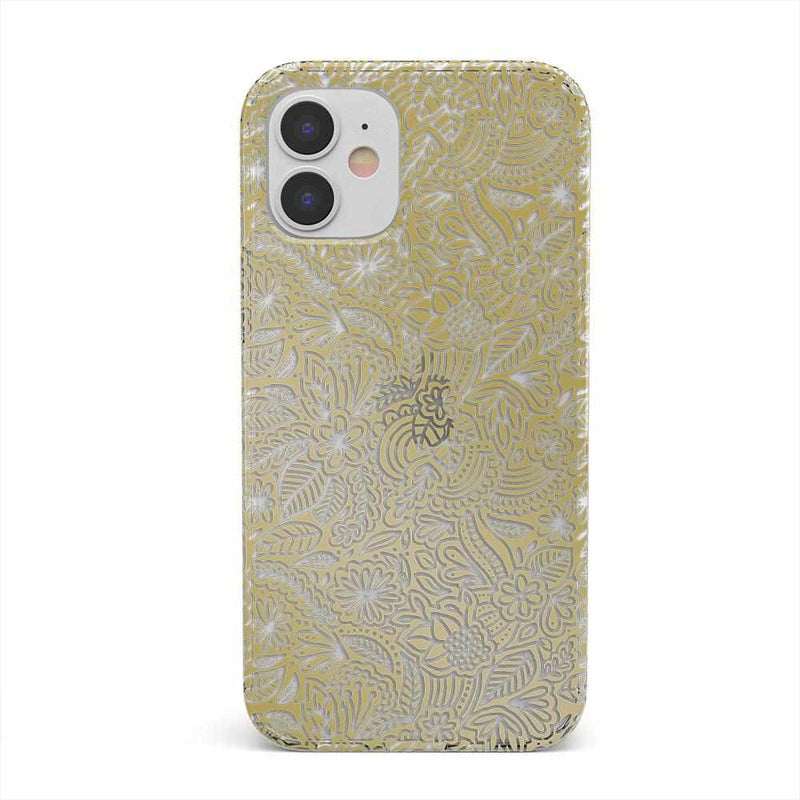 Cute Rose Gold Floral Mandala Clear Case iPhone Case get.casely Classic iPhone 12 Mini