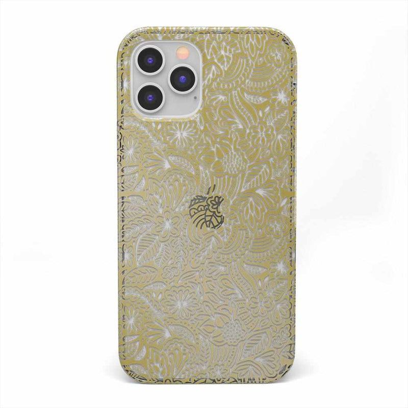 Cute Rose Gold Floral Mandala Clear Case iPhone Case get.casely Classic iPhone 12 Pro