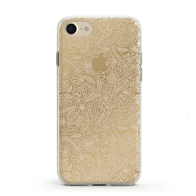 Cute Rose Gold Floral Mandala Clear Case iPhone Case Get.Casely Classic iPhone 6/6s