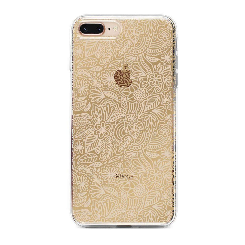 Cute Rose Gold Floral Mandala Clear Case iPhone Case Get.Casely Classic iPhone 6/6s Plus