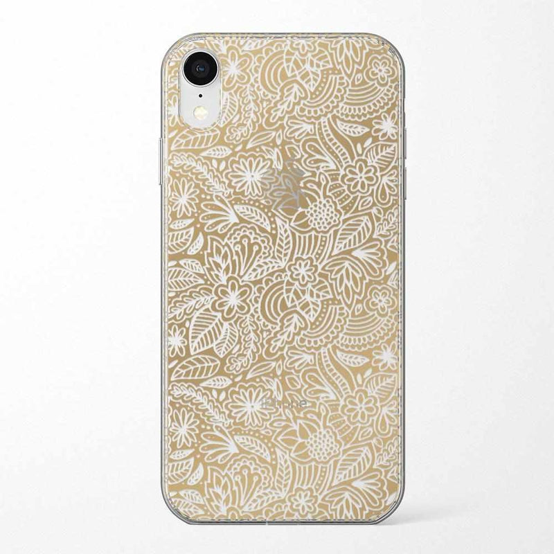 Cute Rose Gold Floral Mandala Clear Case iPhone Case Get.Casely Classic iPhone XR