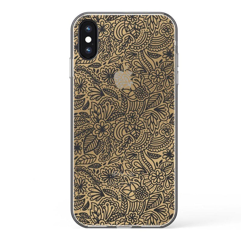 Cute Rose Gold Floral Mandala Clear Case iPhone Case Get.Casely Classic iPhone XS Max