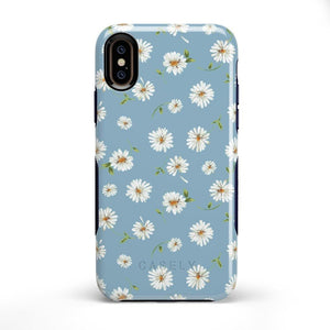 Daisy Daydream Baby Blue Floral Case iPhone Case Get.Casely Bold iPhone X / XS