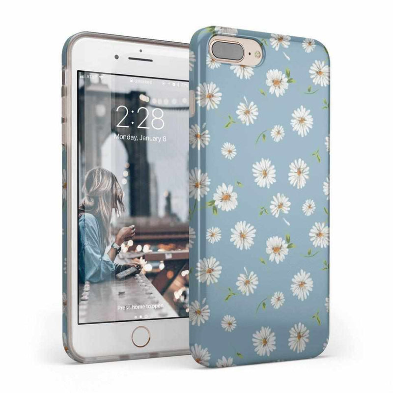 Daisy Daydream Baby Blue Floral Case iPhone Case Get.Casely Classic iPhone 8 Plus