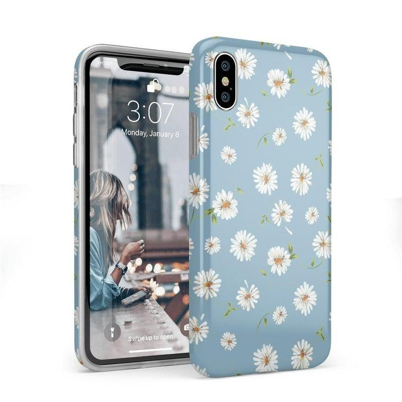 Daisy Daydream Baby Blue Floral Case iPhone Case Get.Casely Classic iPhone X / XS