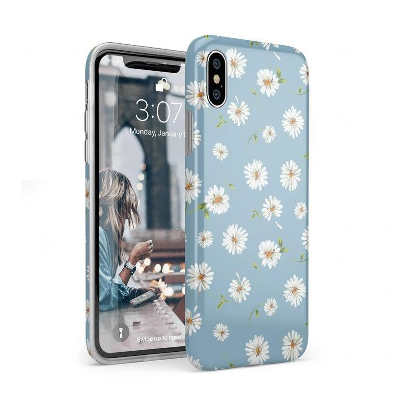 Daisy Daydream Baby Blue Floral Case iPhone Case Get.Casely Classic iPhone XS Max