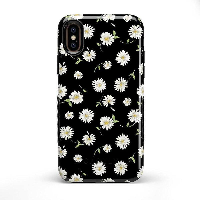 Daisy Daydream Black Floral Case iPhone Case Get.Casely Bold iPhone X / XS