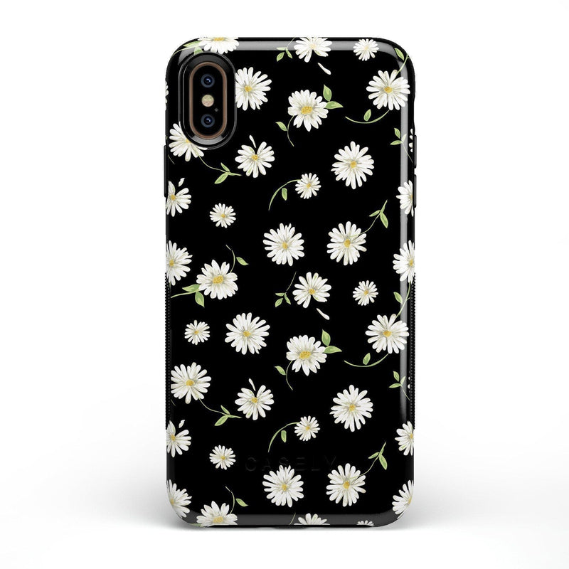 Daisy Daydream Black Floral Case iPhone Case Get.Casely Bold iPhone XS Max