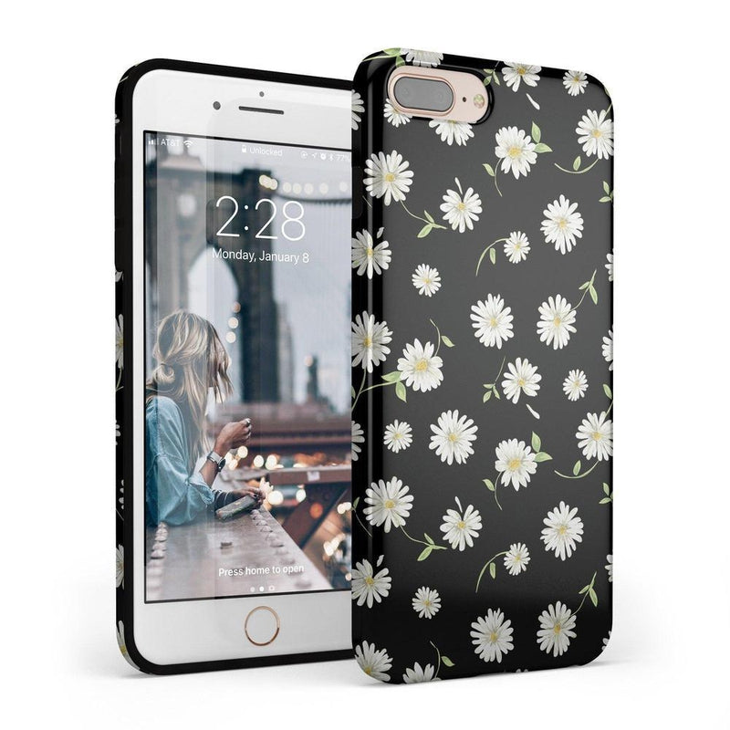 Daisy Daydream Black Floral Case iPhone Case Get.Casely Classic iPhone 6/6s Plus