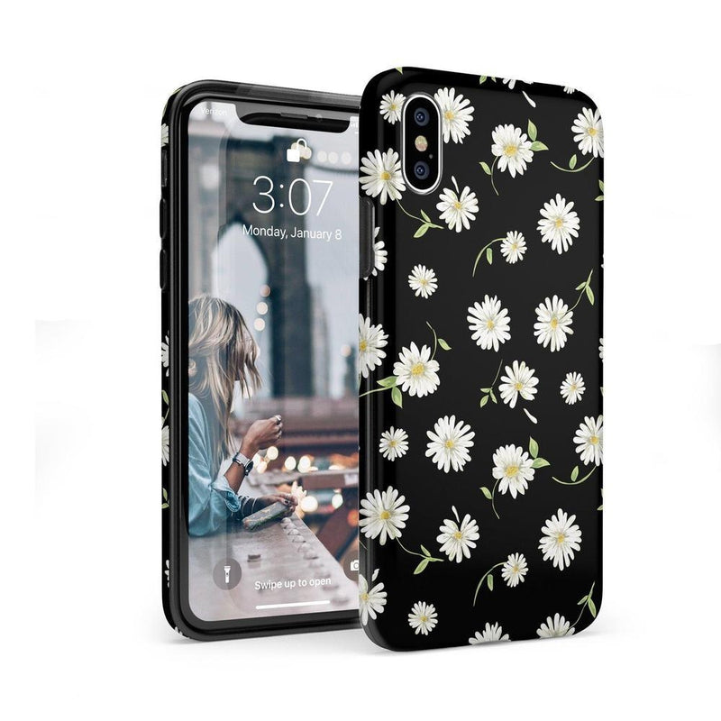 Daisy Daydream Black Floral Case iPhone Case Get.Casely Classic iPhone X / XS
