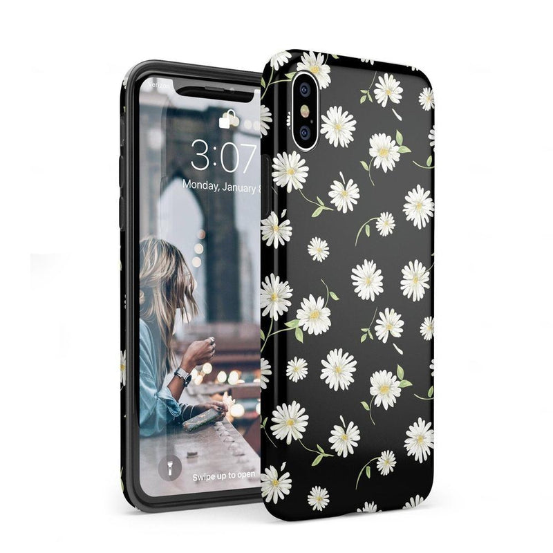 Daisy Daydream Black Floral Case iPhone Case Get.Casely Classic iPhone XS Max