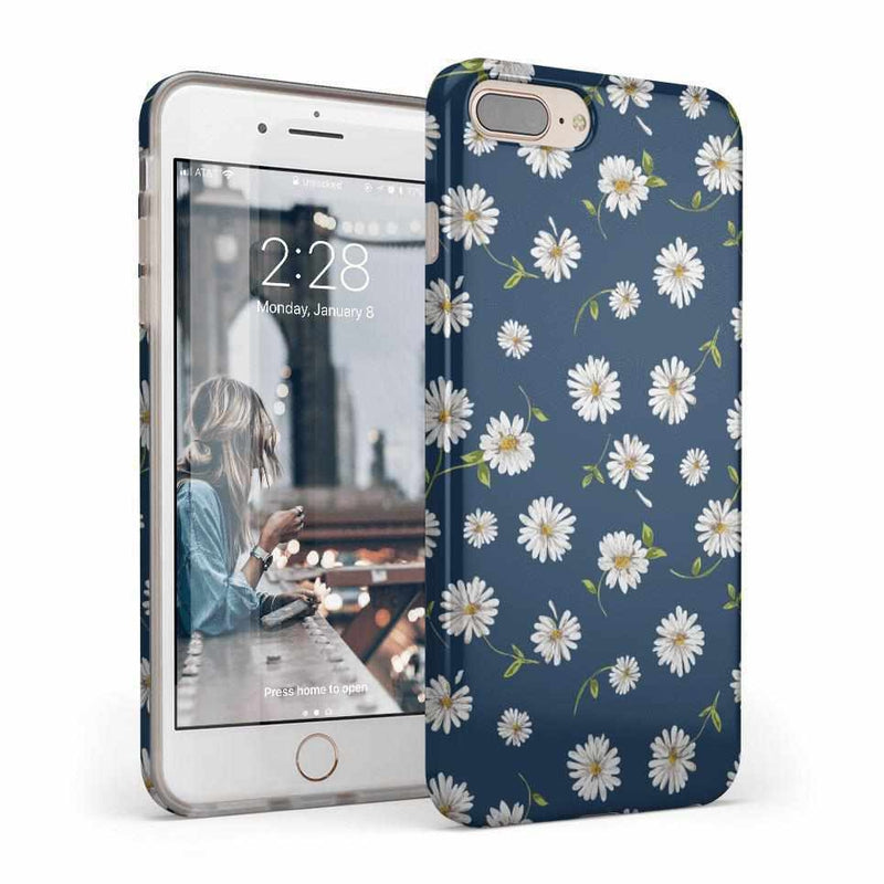 Daisy Daydream Navy Floral Case iPhone Case Get.Casely Classic iPhone 8 Plus