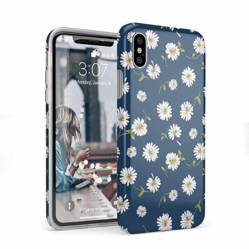 Daisy Daydream Navy Floral Case iPhone Case Get.Casely Classic iPhone X / XS