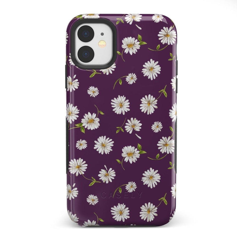Daisy Daydream Plum Purple Floral Case iPhone Case Get.Casely Bold iPhone 11