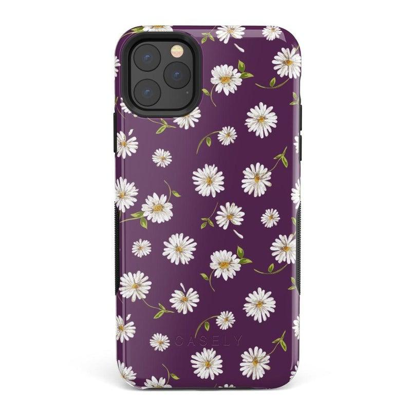 Daisy Daydream Plum Purple Floral Case iPhone Case Get.Casely Bold iPhone 11 Pro Max