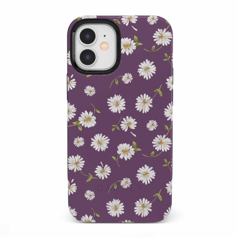 Daisy Daydream Plum Purple Floral Case iPhone Case get.casely Bold iPhone 12 Mini