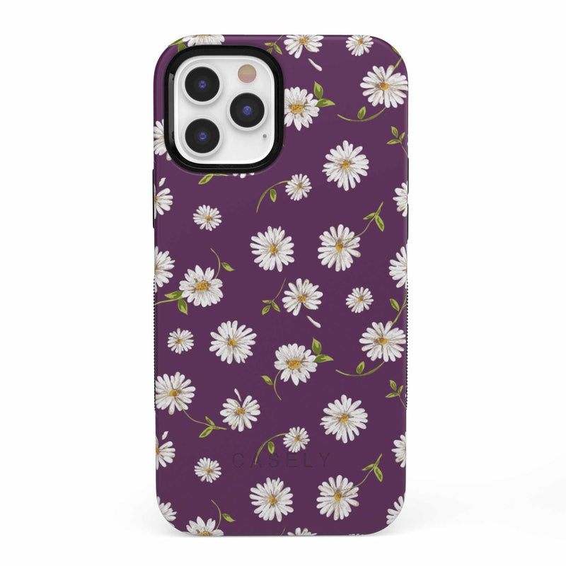 Daisy Daydream Plum Purple Floral Case iPhone Case get.casely Bold iPhone 12 Pro