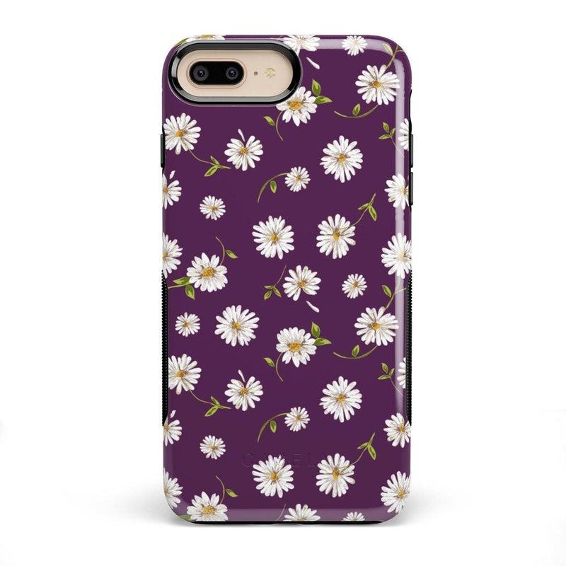 Daisy Daydream Plum Purple Floral Case iPhone Case Get.Casely Bold iPhone 8 Plus