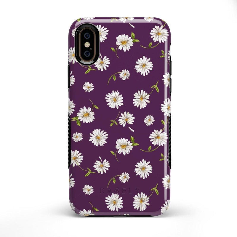 Daisy Daydream Plum Purple Floral Case iPhone Case Get.Casely Bold iPhone X / XS