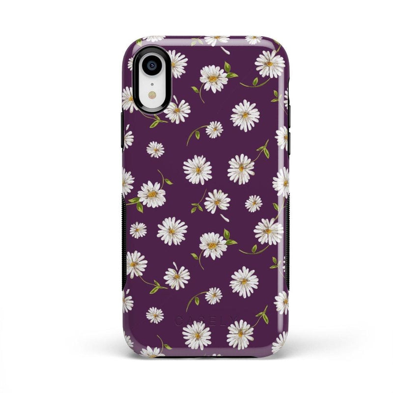 Daisy Daydream Plum Purple Floral Case iPhone Case Get.Casely Bold iPhone XR