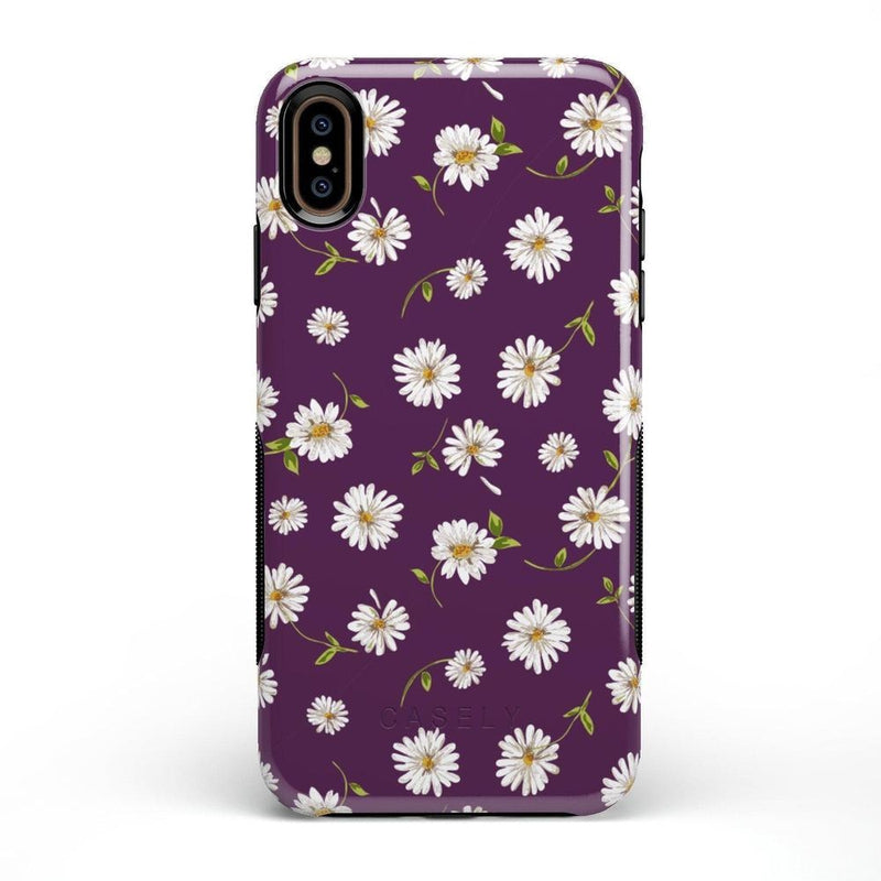 Daisy Daydream Plum Purple Floral Case iPhone Case Get.Casely Bold iPhone XS Max