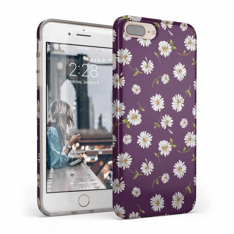 Daisy Daydream Plum Purple Floral Case iPhone Case Get.Casely Classic iPhone 8 Plus