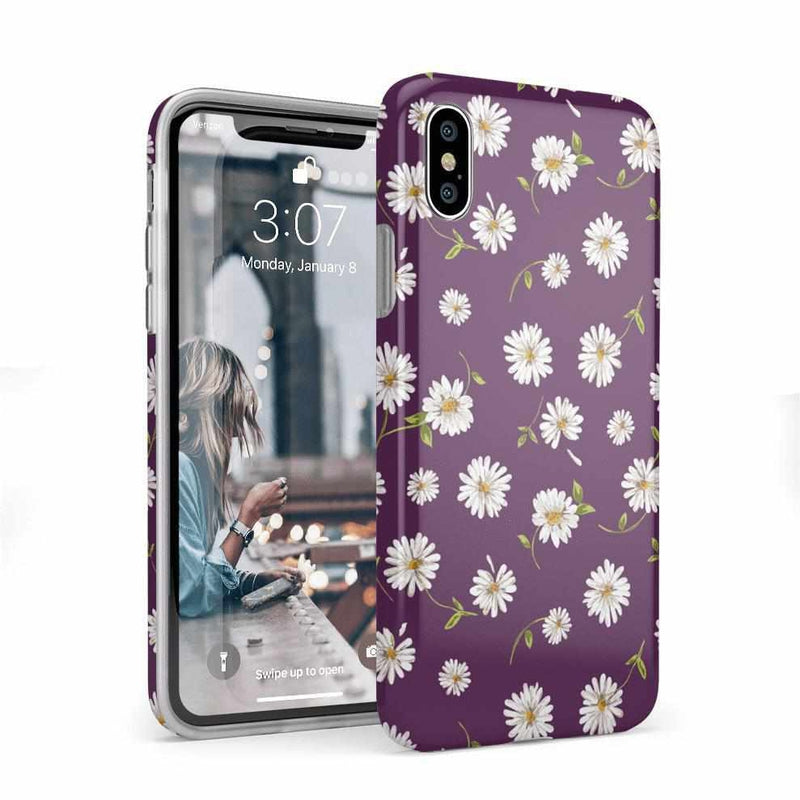 Daisy Daydream Plum Purple Floral Case iPhone Case Get.Casely Classic iPhone X / XS