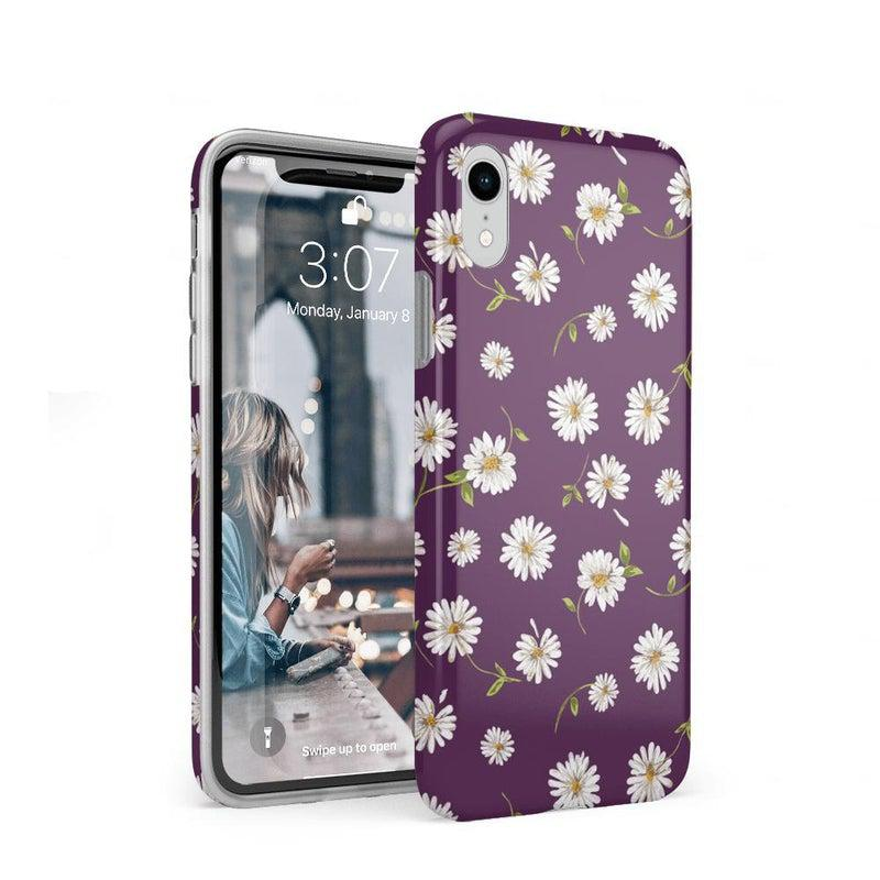 Daisy Daydream Plum Purple Floral Case iPhone Case get.casely Classic iPhone XR