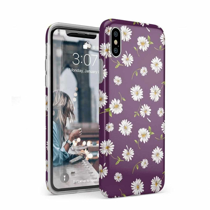 Daisy Daydream Plum Purple Floral Case iPhone Case Get.Casely Classic iPhone XS Max