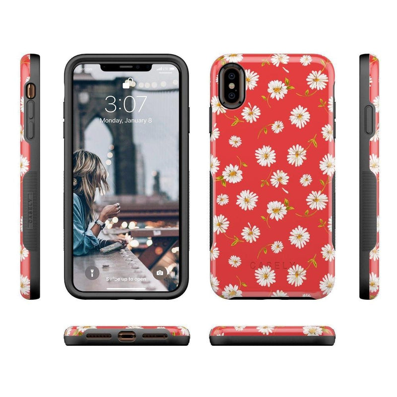 Daisy Daydream Red Coral Floral Case iPhone Case Get.Casely