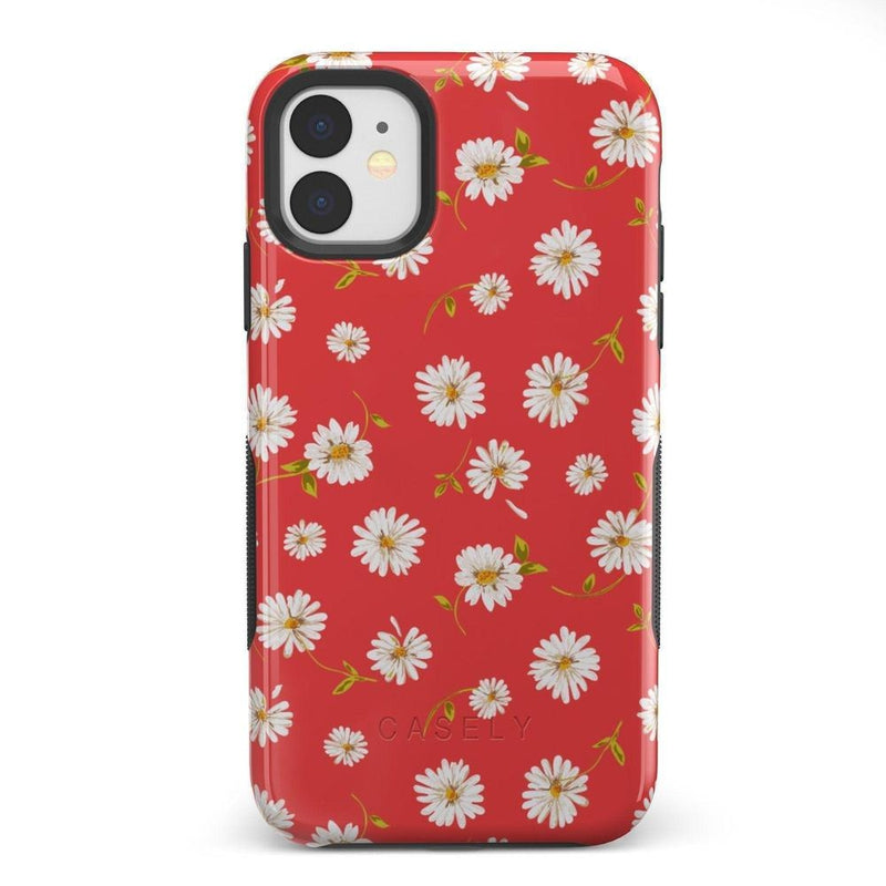 Daisy Daydream Red Coral Floral Case iPhone Case Get.Casely Bold iPhone 11