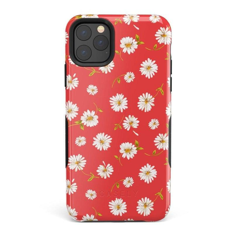 Daisy Daydream Red Coral Floral Case iPhone Case Get.Casely Bold iPhone 11 Pro