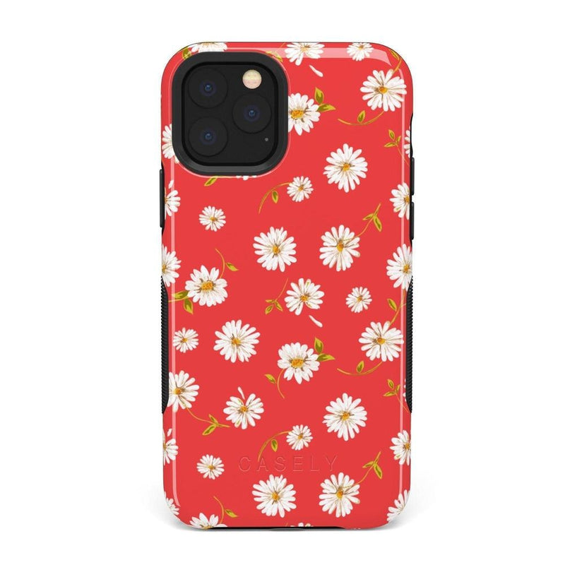 Daisy Daydream Red Coral Floral Case iPhone Case Get.Casely Bold iPhone 11 Pro Max