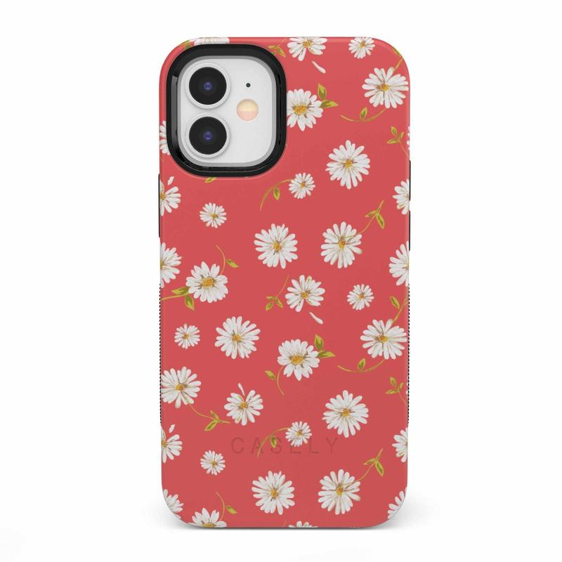 Daisy Daydream Red Coral Floral Case iPhone Case get.casely Bold iPhone 12 Mini