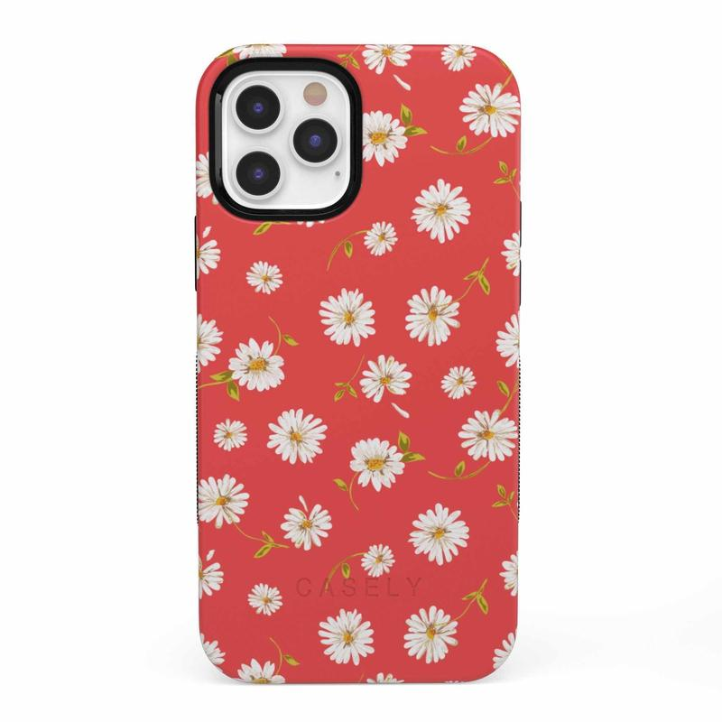 Daisy Daydream Red Coral Floral Case iPhone Case get.casely Bold iPhone 12 Pro