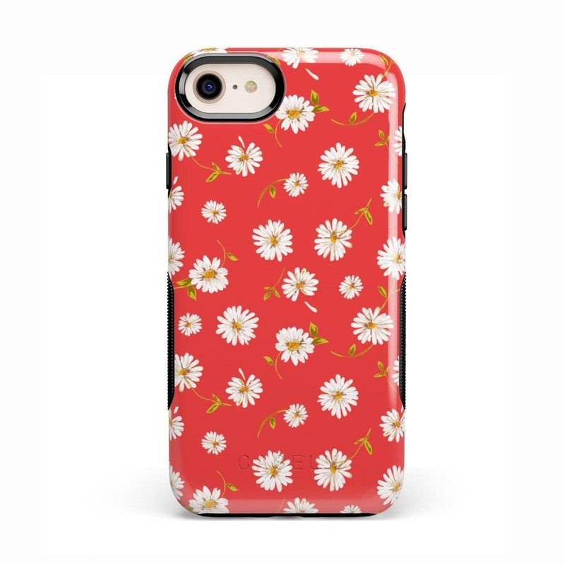 Daisy Daydream Red Coral Floral Case iPhone Case Get.Casely Bold iPhone 8