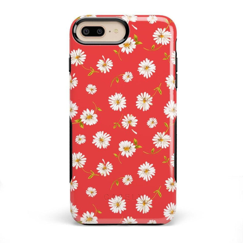 Daisy Daydream Red Coral Floral Case iPhone Case Get.Casely Bold iPhone 8 Plus