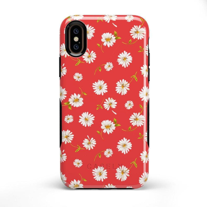 Daisy Daydream Red Coral Floral Case iPhone Case Get.Casely Bold iPhone X / XS