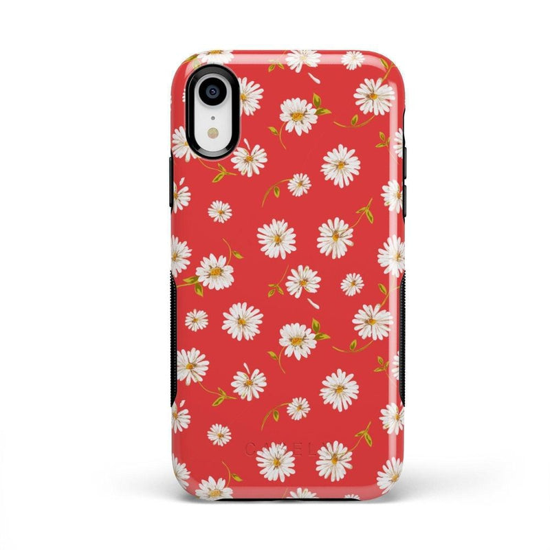 Daisy Daydream Red Coral Floral Case iPhone Case Get.Casely Bold iPhone XR