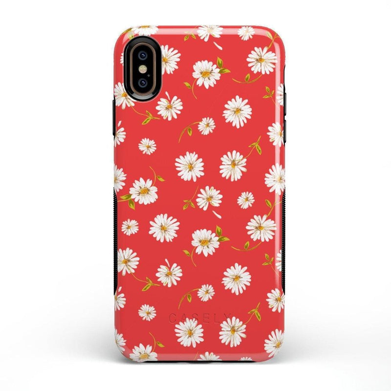 Daisy Daydream Red Coral Floral Case iPhone Case Get.Casely Bold iPhone XS Max