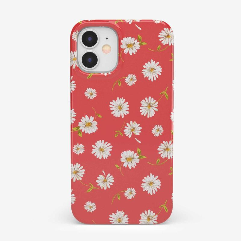 Daisy Daydream Red Coral Floral Case iPhone Case get.casely Classic iPhone 12 Mini