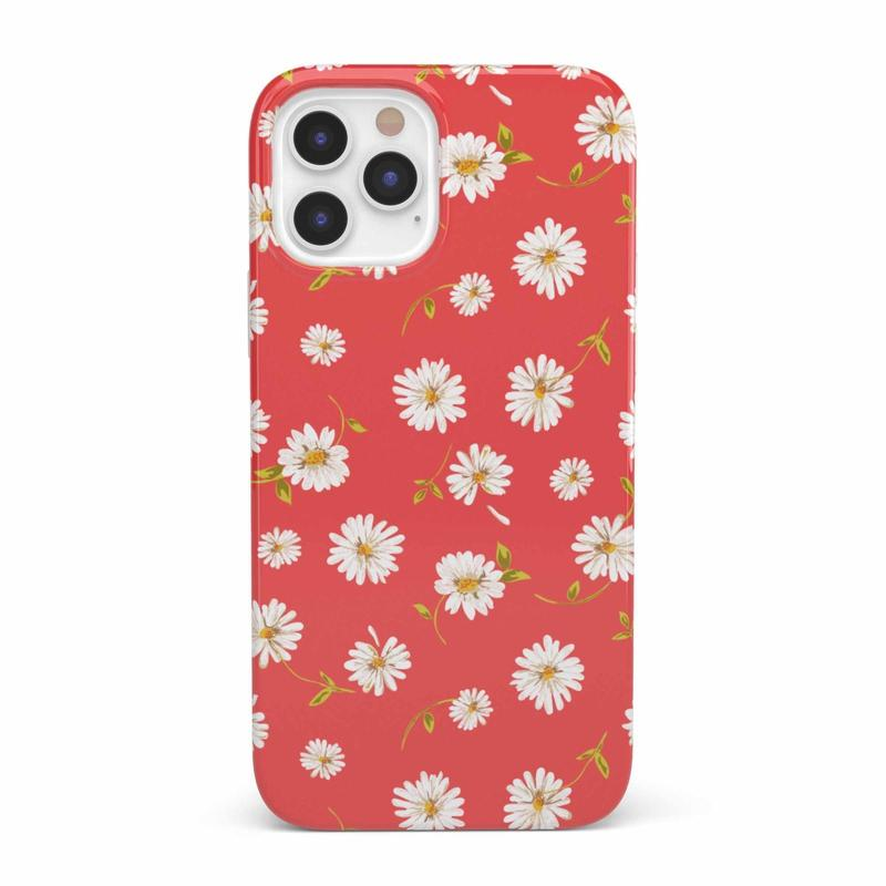 Daisy Daydream Red Coral Floral Case iPhone Case get.casely Classic iPhone 12 Pro