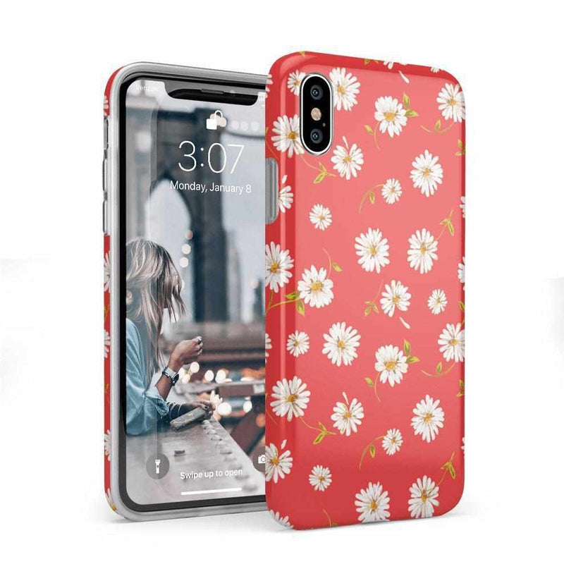 Daisy Daydream Red Coral Floral Case iPhone Case Get.Casely Classic iPhone X / XS