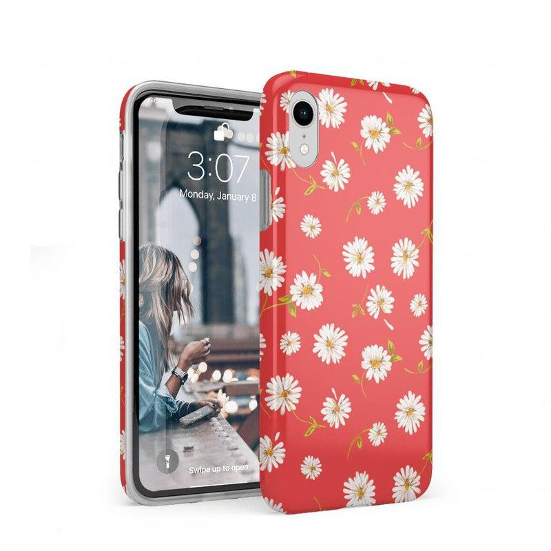 Daisy Daydream Red Coral Floral Case iPhone Case get.casely Classic iPhone XR