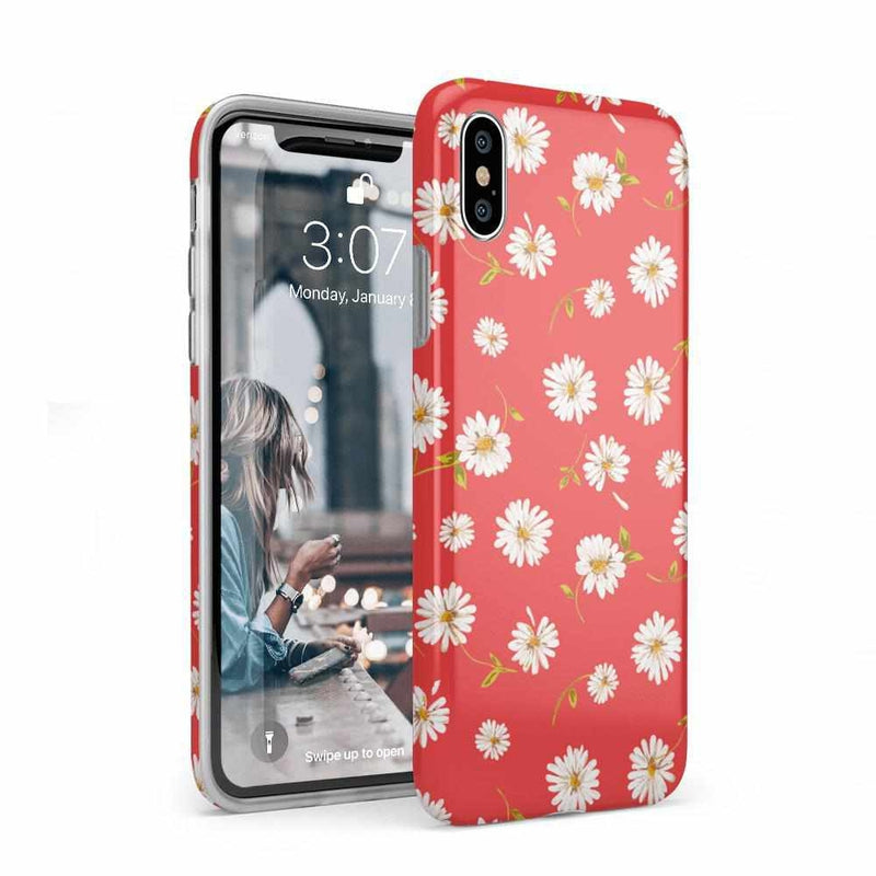 Daisy Daydream Red Coral Floral Case iPhone Case Get.Casely Classic iPhone XS Max