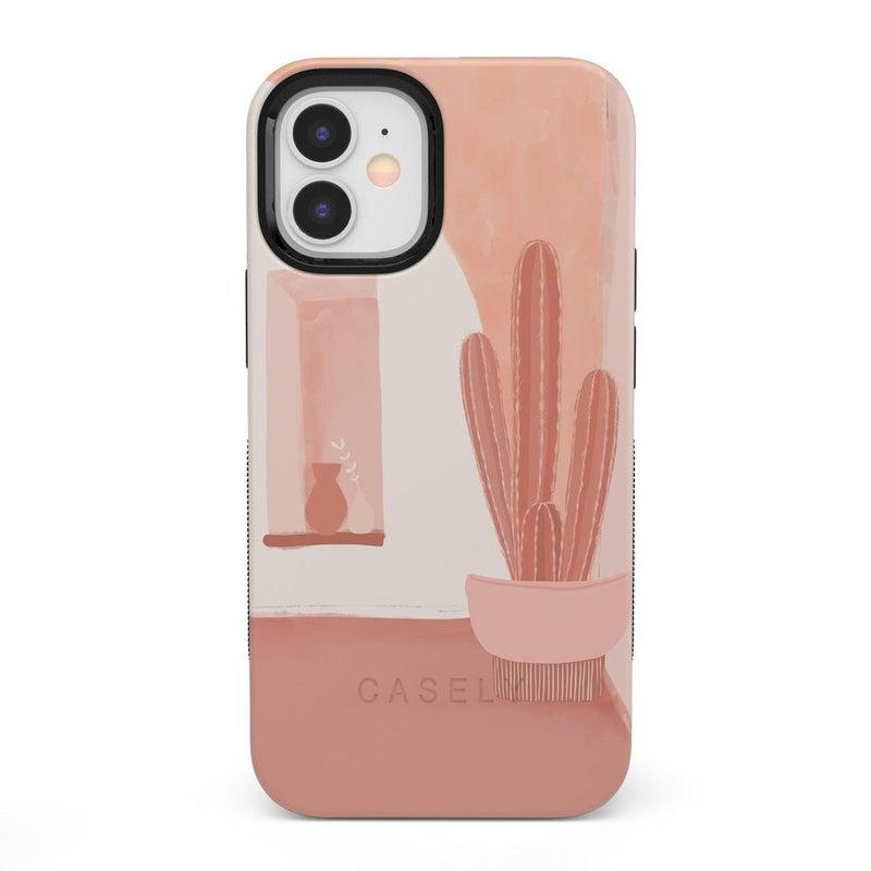 Desert Daze | Peachy Cactus Case iPhone Case get.casely Bold iPhone 12