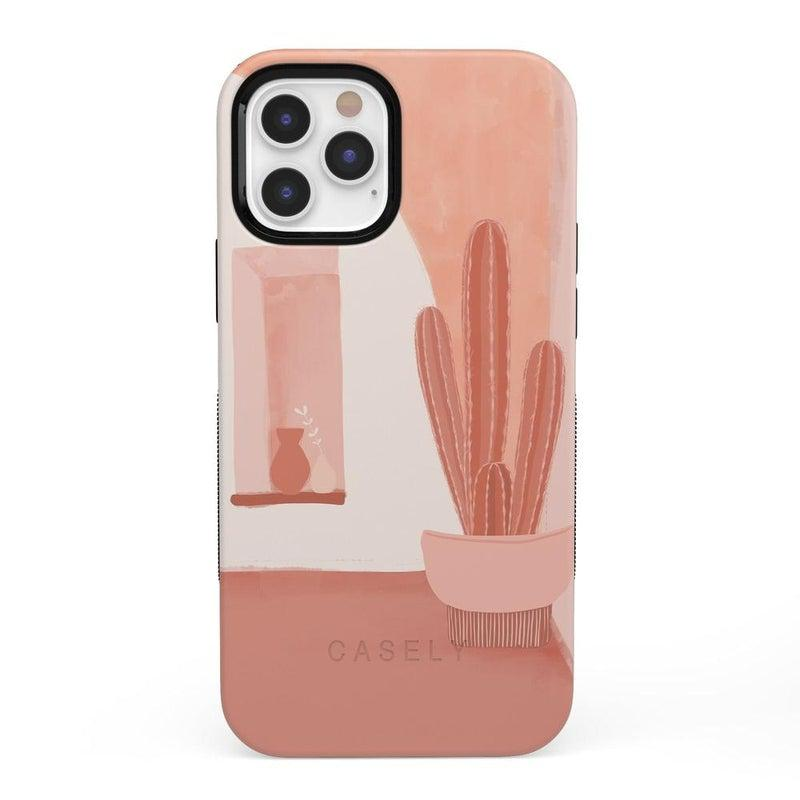 Desert Daze | Peachy Cactus Case iPhone Case get.casely Bold iPhone 12 Pro Max