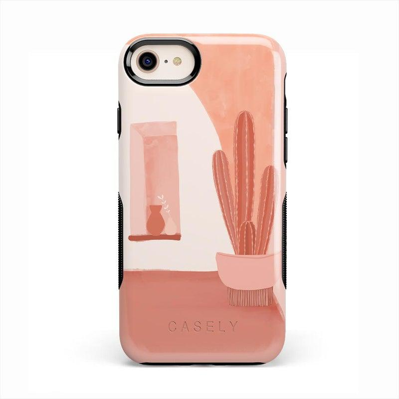 Desert Daze | Peachy Cactus Case iPhone Case get.casely Bold iPhone SE (2020)