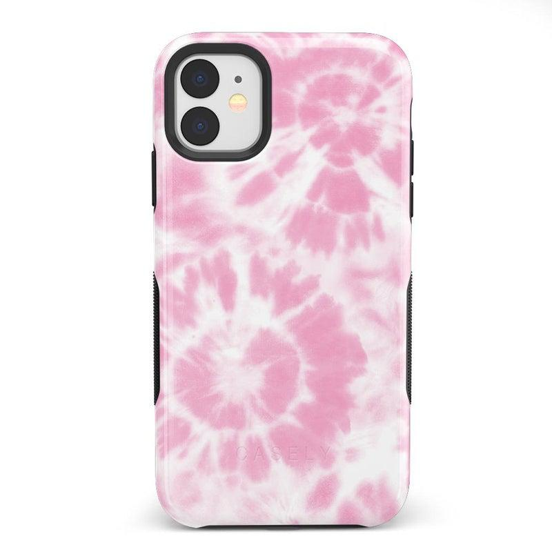 Down for Whatever | Light Pink Tie Dye Case iPhone Case get.casely Bold iPhone 11