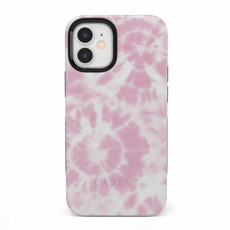 Down for Whatever | Light Pink Tie Dye Case iPhone Case get.casely Bold iPhone 12 Mini
